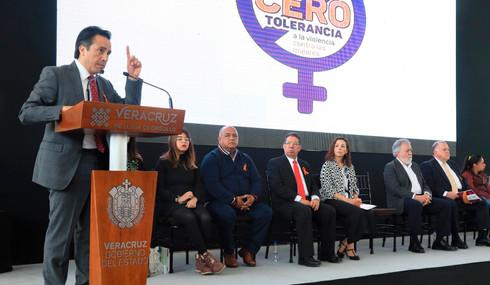 Cero tolerancia a la violencia contra mujeres y niñas: Cuitláhuac García