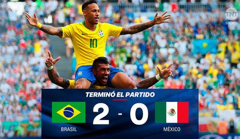 México es eliminado por Brasil en Rusia 2018