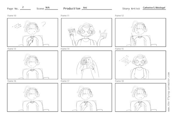 Animation Storyboard, Final Version, Pg 2