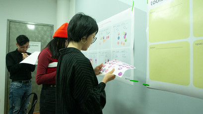 Participants placed stickers during the Seeding activity.