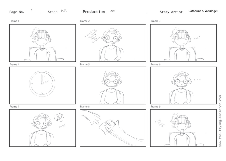 Animation Storyboard, Final Version, Pg 1