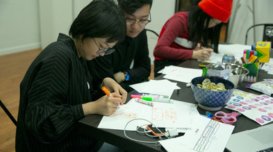Participants creating future means of communication.