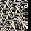 Thumbnail: SUMMER SCARF - tINI & THE GANG - GANG CUBE PATTERN - BLACK & WHITE
