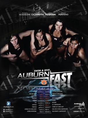 Auburn Women's Swim & Dive Poster