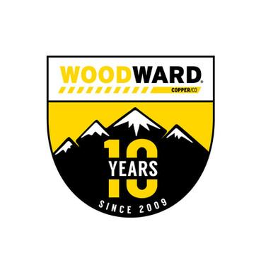 Woodward Ten Year Anniversary Logo