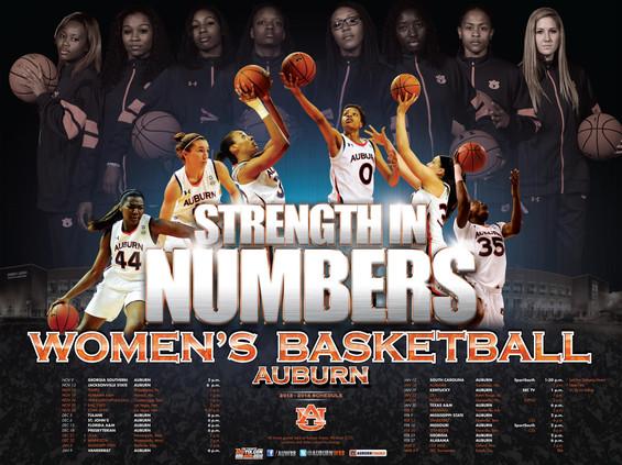 Auburn Women's Basketball Poster