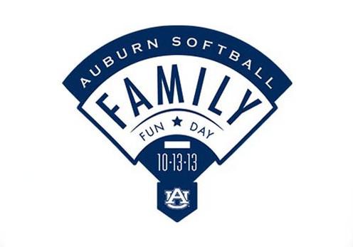 Auburn Softball Family Fun Day - Logo Design