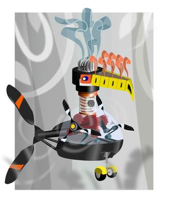 Robotic Toucan Illustration