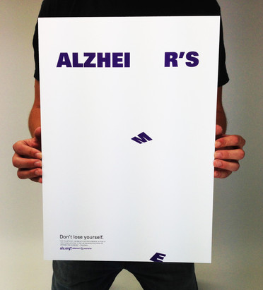 Alzheimer's Organization Poster Design
