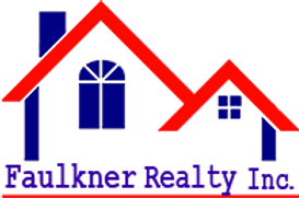 Faulkner Realty, Inc. logo red rooflines