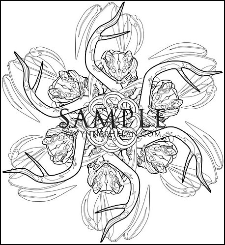 Sugar Glider Mandala Colouring Page