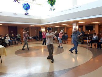 Saber Tai Chi Demonstration in the Atrium