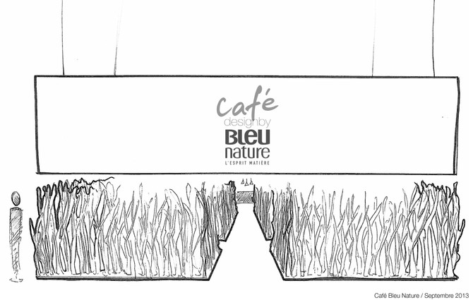 Croquis Café Bleu Nature