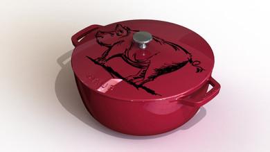 3D dessin cochon