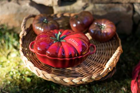 Cocotte tomate céramique