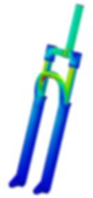 simulazione strutturale FEM forcella