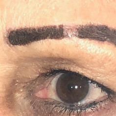 first scab to fall off reveals lighter brows underneath!