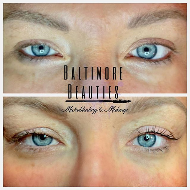 Sugarlash lash lift & tint #baltimore #m