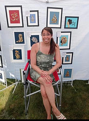 Myself in front of my art pic.jpe