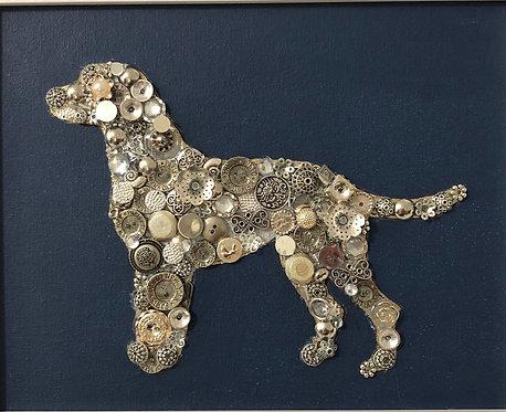 "Love my dog 8x10"" mixed media on canvas"