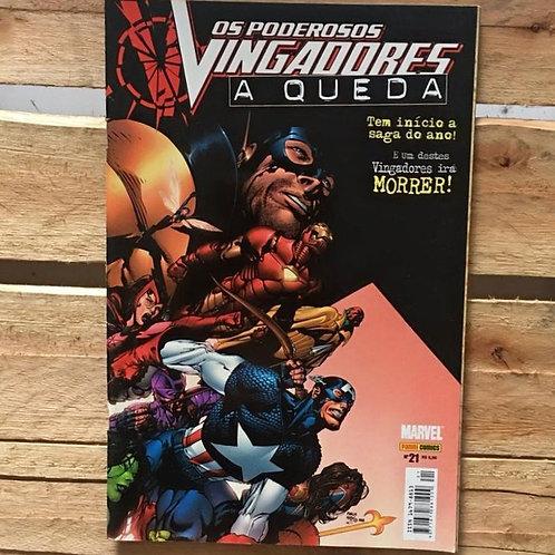 Os poderosos vingadores: a queda nº 21 - Marvel