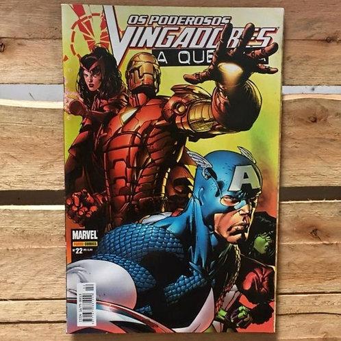 os poderosos vingadores: a queda nº22 - Marvel