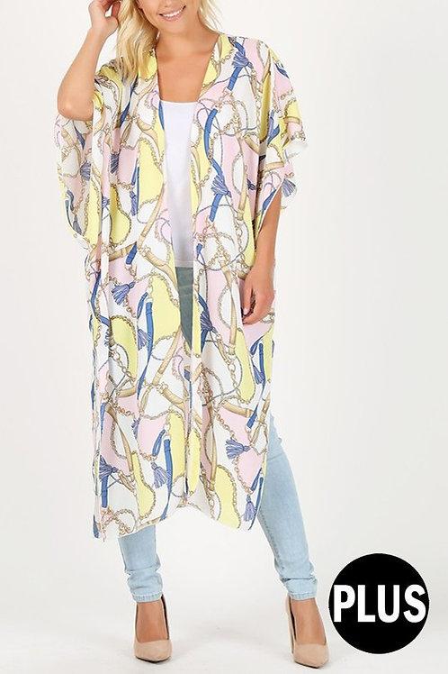 Pink Kimono Allover Print