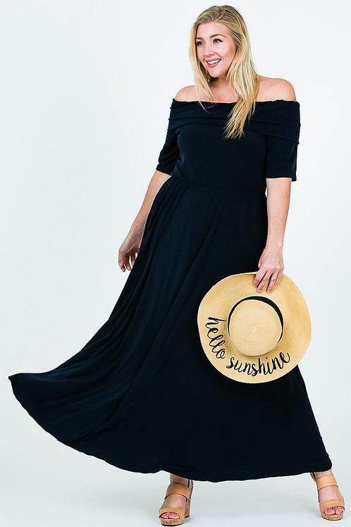 Black Comfortable Versatile Dress