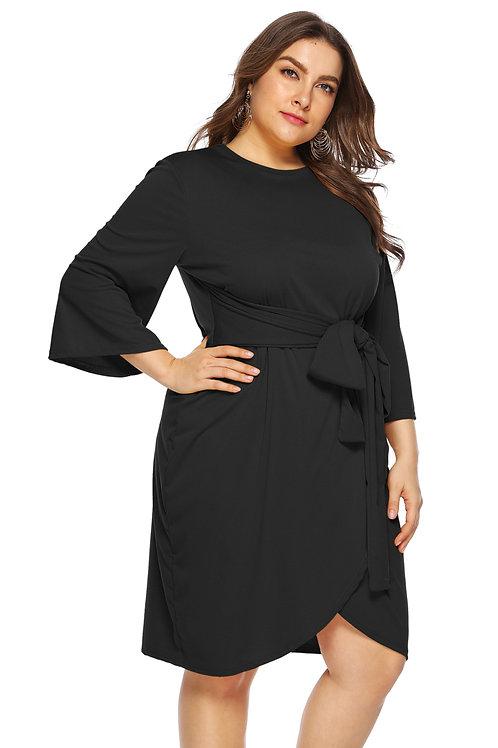 Black Autumn Stylish Wrap Dress
