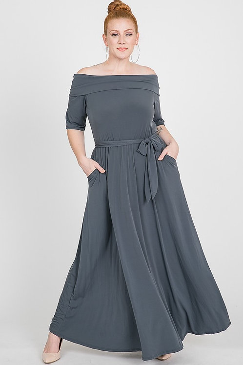 Gray Comfortable Versatile Dress