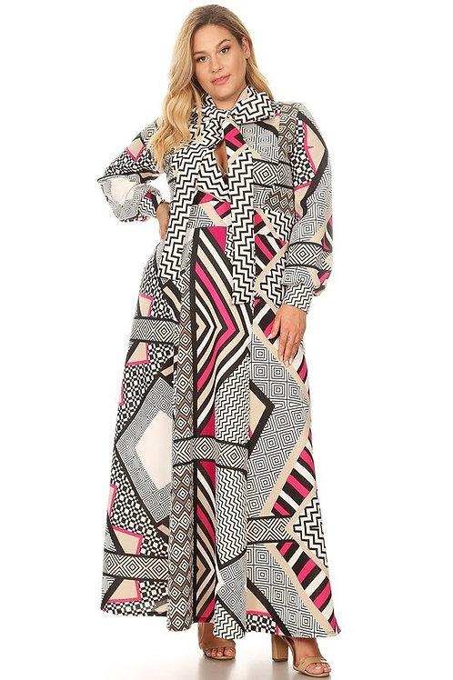 Fuchsia Techno Scuba Dress