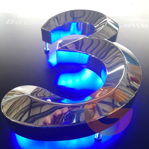 3D Backlit Fabricated Letters