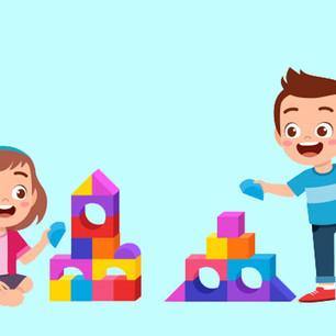 Jongens en meisjes in de bouwhoek