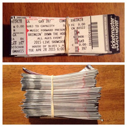 The tickets for BDTH at the #HouseOfBlues