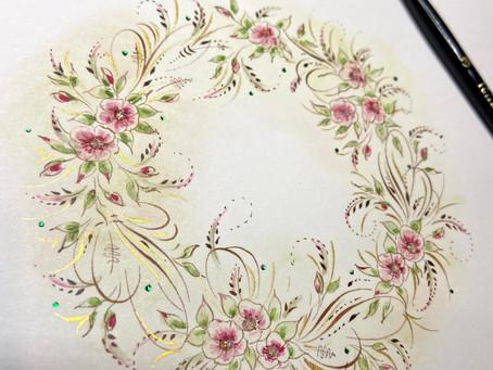 Heather Victoria Held: Flourished Wreath Tutorial