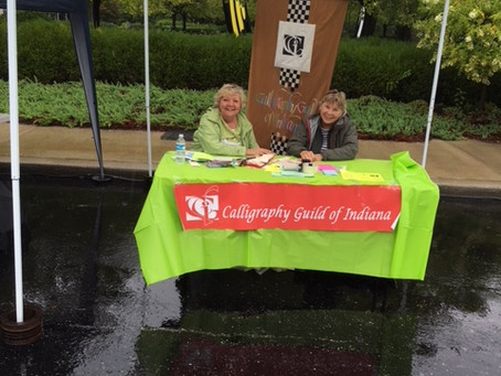 Calligraphy Guild Takes Over Penrod Art Fair!