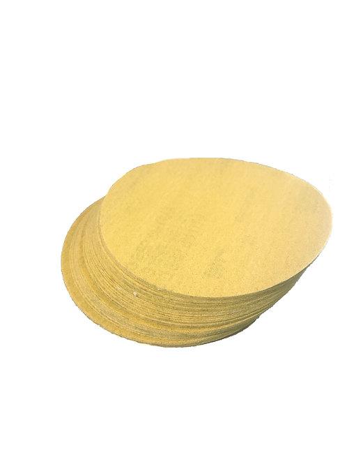 "5"" x NH A/O 180 Grit PSA Gold Sanding Disc"