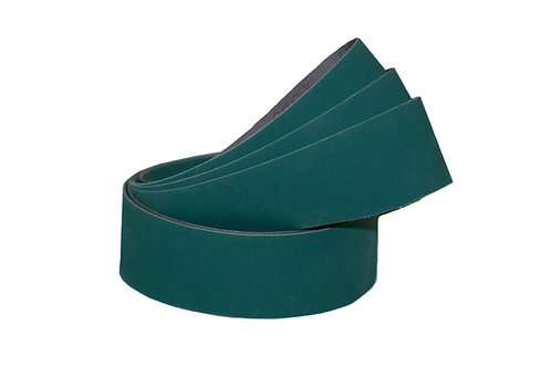 "Green Lubed Aluminum Oxide ""J"" Flex Belts"