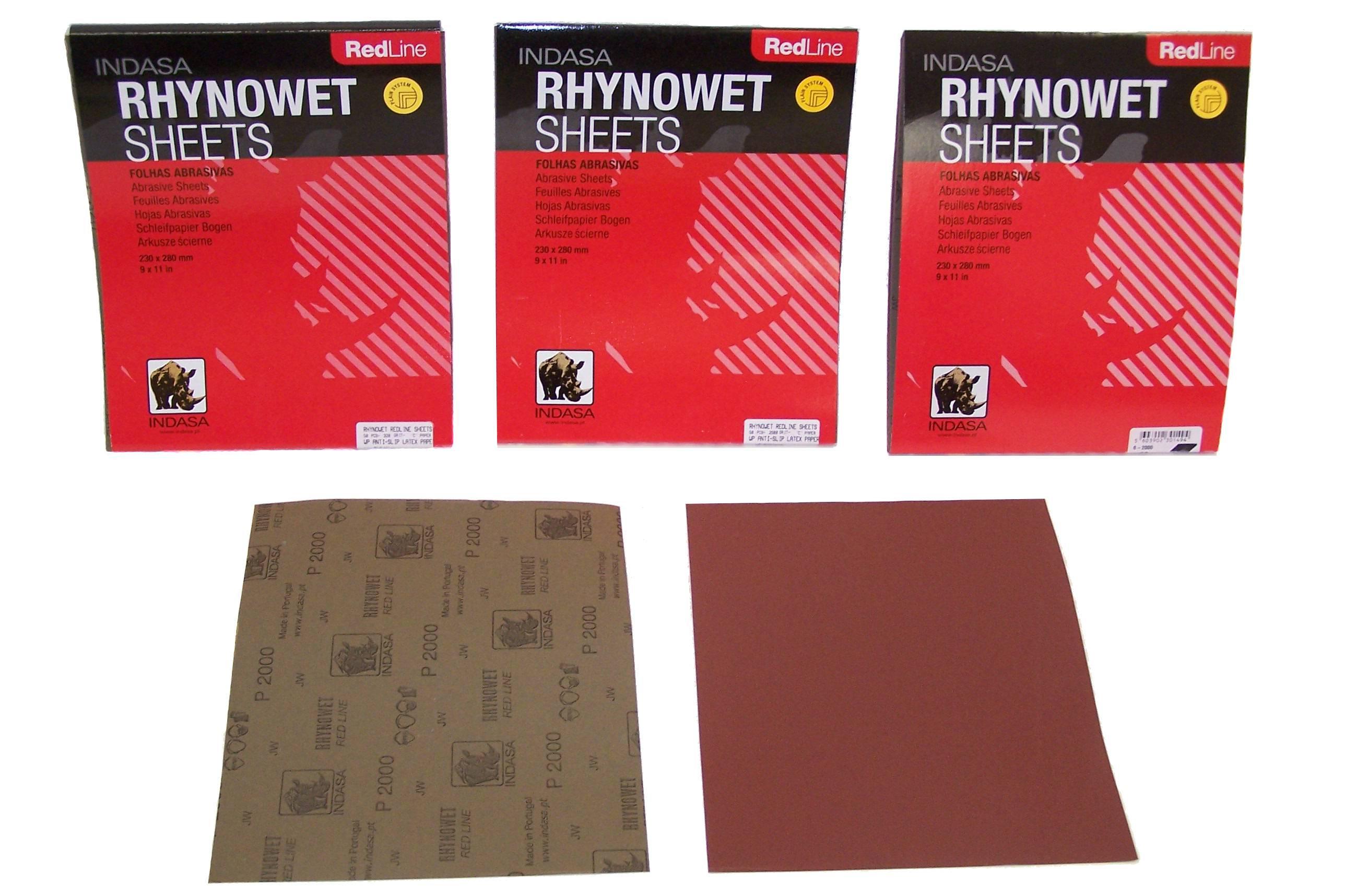 Indasa  Redline Plus  9x11  220 Grit Dry Sandpaper  25 Sheets   # 5-220
