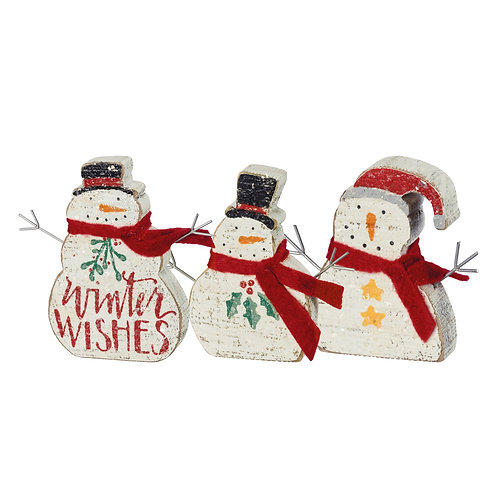 A Trio of Snowpeople