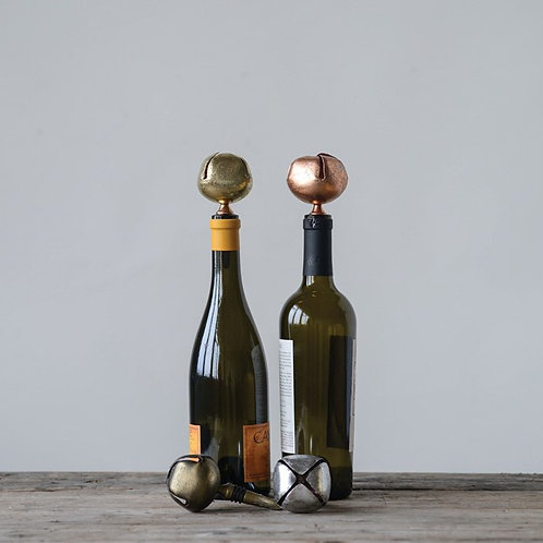 Jingle Bell Wine Stoppers