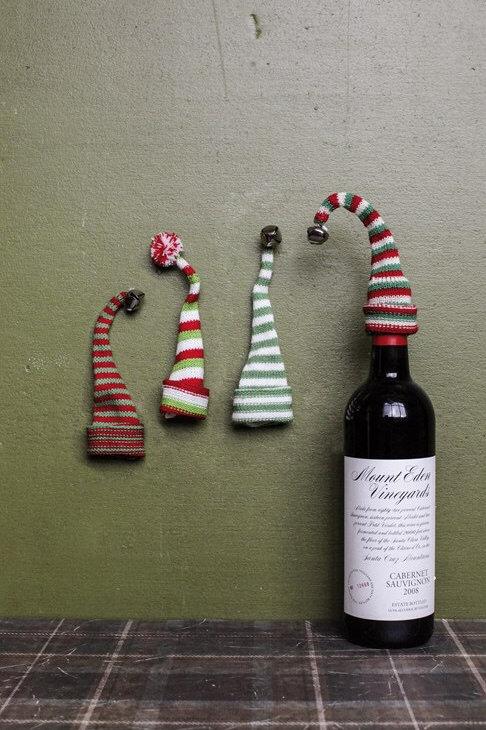 Knit Hat Bottle Toppers