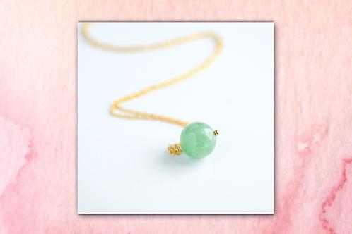 Green Aventurine Drop Necklace