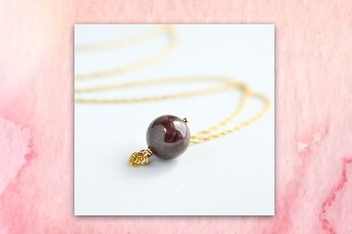 Red Wine Garnet Drop Necklace