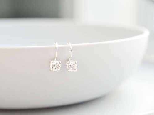 Clear Crystal Quartz Earrings