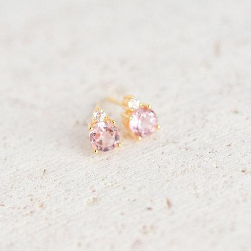 Pink Tourmaline & White Topaz