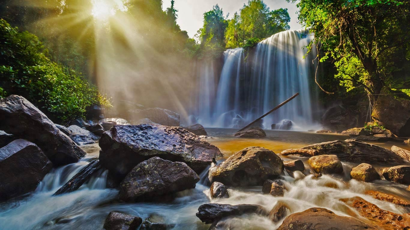 Waterfalls-in-Phnom-Kulen-National-Park-Cambodia-20160906