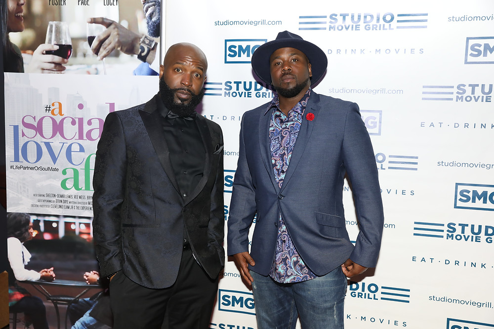 The men behind the vision of the Feature film #Asocialloveaffair at the red carpet Premiere 2019 NBA All-Star Weekend Charlotte NC  @StudiomovieGrill
