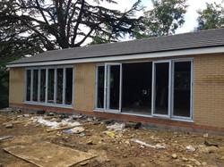 Building work with bifold windows