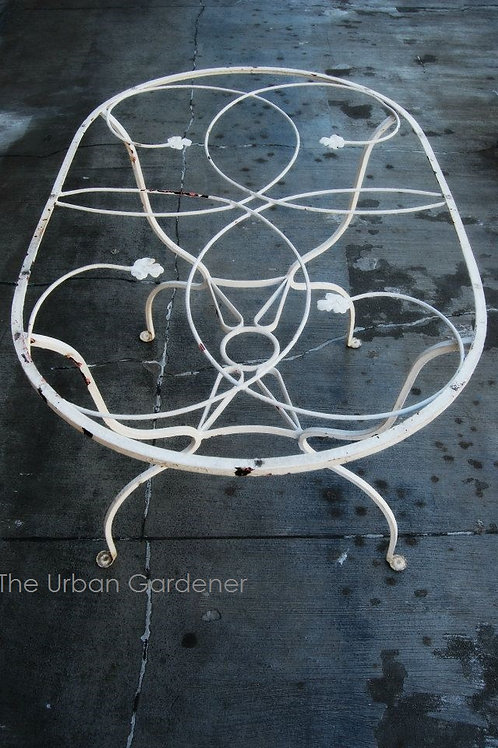 Mid-Century Wrought Iron Patio Table/Price Reduced